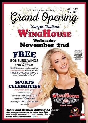 WingHouse Tampa Stadium Grand Opening