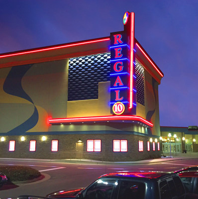 Lights, Camera, RECLINE at Regal Dulles Town Center 10 where every moviegoer will enjoy an electric recliner at this new state-of-the-art theatre. Image Source: Regal Cinemas