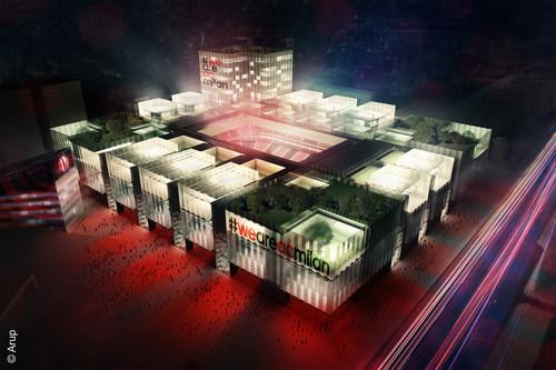 Project new stadium by night (PRNewsFoto/AC Milan) (PRNewsFoto/AC Milan)