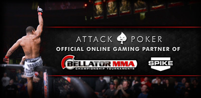 Attack Poker Becomes Official Online Gaming Partner Of Bellator MMA.  (PRNewsFoto/Attack Poker)
