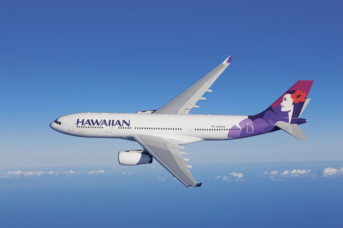 Hawaiian's new Airbus A330-200 aircraft seat 294 passengers and offer the comforts of a spacious interior, ...