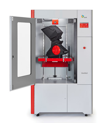 YSoft be3D DeeRed Professional 3D Printer boasts one of the largest print chamber volume in its price segment.