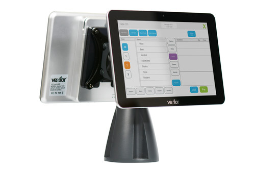 Vexilor V10 Gen 2 shown here with stand mount and optional customer facing tablet. (PRNewsFoto/Givex)