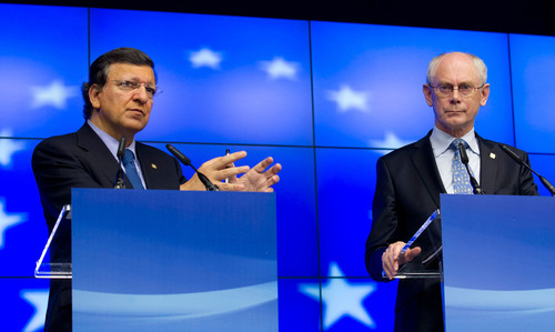 From left to right: Mr Jose Manuel Barroso, President of the European Commission; Mr Herman Van Rompuy, President of the European Council.  (PRNewsFoto/Delegation of the European Union to the United States)