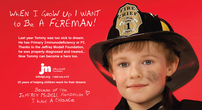 Jeffrey Modell Foundation, Public Service Advertising When I Grow Up, Print Ad