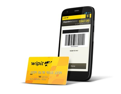 Wipit's omni-payment technology enables retail point-of-sale payments from a prepaid cash mobile wallet. (PRNewsFoto/Wipit, Inc.)