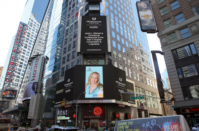 Janet L. Mitchell Honored in Times Square NYC After Being Named Professional of the Year by Strathmore's Who's Who