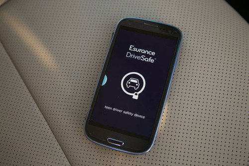 The Esurance DriveSafe program limits cellphone use while the car is in motion, preventing texting and driving and helping to keep teens focused on the road. (PRNewsFoto/Esurance) (PRNewsFoto/ESURANCE)