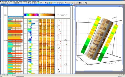Geolog borehole image processing and interpretation helps deliver a better understanding of the rock fabric.
