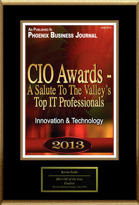 "Kevin Nohl Selected For ""CIO Awards - A Salute The Valley's Top IT Professionals"".  (PRNewsFoto/American Registry)"