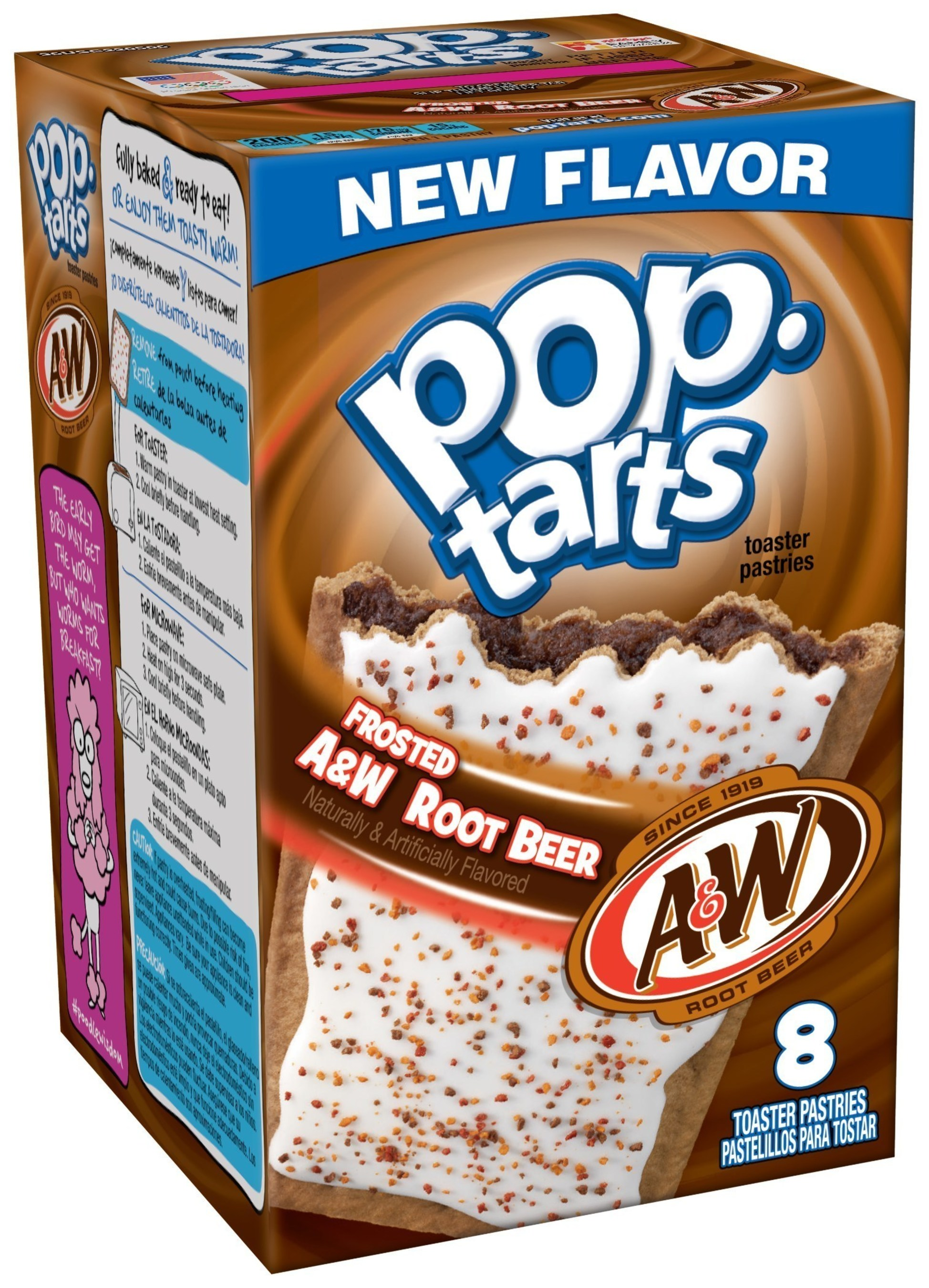 Frosted A&W(TM) Root Beer Pop-Tarts