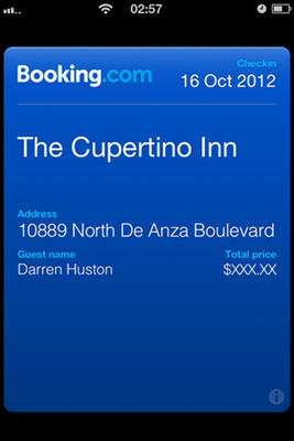 16 October 2012. Booking.com enables Passbook on latest release of iPhone app. Booking.com announces today that the latest release of its iPhone app has a new feature: Passbook. Passbook allows users to easily access their hotel and accommodation bookings, along with entry tickets, boarding passes and much more all in one place. Adding Passbook to the app builds upon the seamless multi-device experience Booking.com strives to deliver to its growing base of over 10 million iPhone and iPod touch users.  (PRNewsFoto/Booking.com)