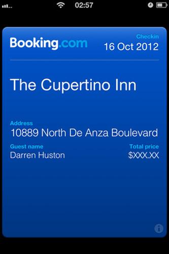 Booking.com offre la fonctionnalité Passbook dans la dernière version de son application pour