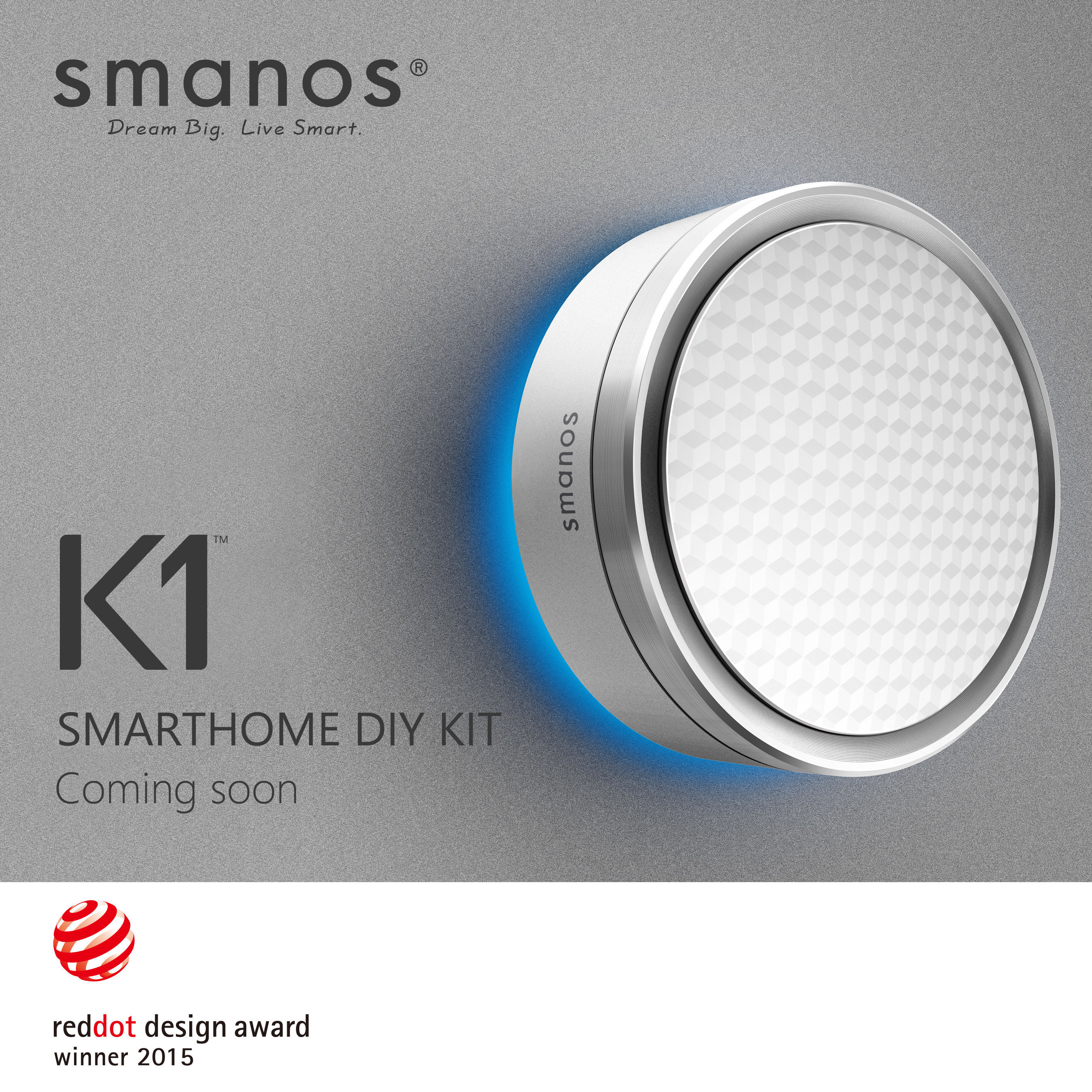 Der Smart Home-Guru smanos wird für das K1 SmartHome DIY Kit mit dem Red Dot Award 2015