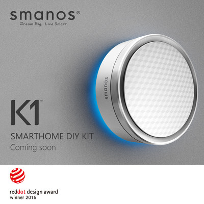 smart home guru smanos wins red dot award 2015 with k1 smarthome diy kit the business journals. Black Bedroom Furniture Sets. Home Design Ideas