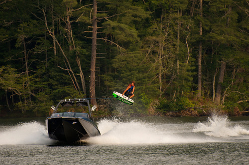 Trever Maur, Axis Pro Team athlete, loves riding behind the all-new A24.  (PRNewsFoto/Axis Wake Research)