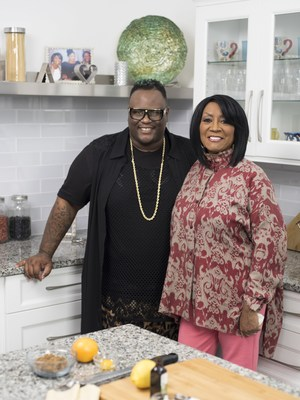 James Wright Chanel and Patti LaBelle from Cooking Channel special Patti LaBelle's Holiday Pies