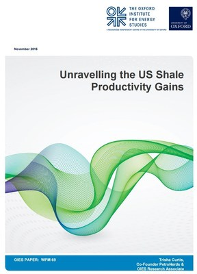 """Unravelling the US Shale Productivity Gains"" Cover"