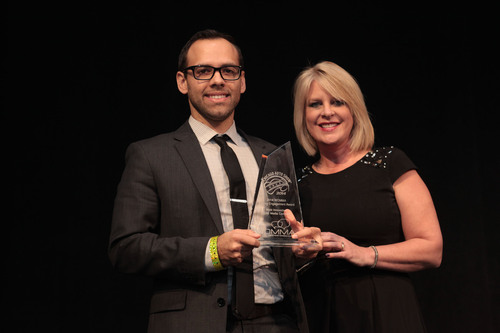 Hyundai took home the second-ever Driving Engagement Award from the Word of Mouth Marketing Association (WOMMA) at the 2014 Chicago Auto Show. The Walking Dead Chop Shop campaign was chosen as the most innovative social media campaign of 2013.  (PRNewsFoto/Hyundai Motor America)