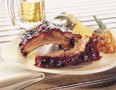 Kansas City Style Pork Back Ribs.  (PRNewsFoto/The National Pork Board)