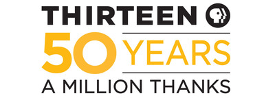 THIRTEEN, AMERICA'S MOST-WATCHED PUBLIC TELEVISION STATION, CELEBRATES 50TH ANNIVERSARY.  (PRNewsFoto/WNET)