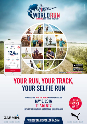 Produced by Red Bull, the Wings for Life World Run now offers a new Selfie Run feature that allows anyone/anywhere to run with the world on May 8 and support spinal cord injury research.