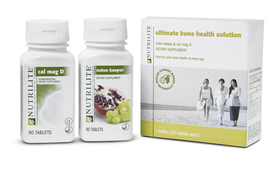 Nutrilite Ultimate Bone Health Solution, reduce the risk of Osteoperosis.  (PRNewsFoto/Amway)