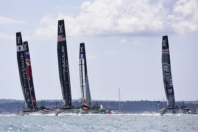 July 25 2015 Americas Cup World Series Portsmouth 2015, Race 1 and Race 2Photo Rick Tomlinson (PRNewsFoto/Louis Vuitton) (PRNewsFoto/Louis Vuitton)