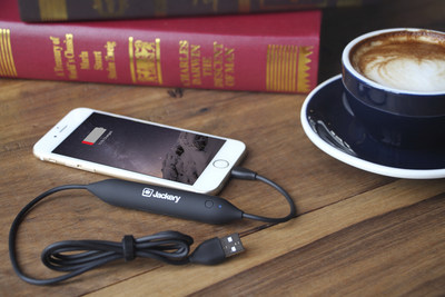 """The Jackery Jewel 2-in-1 Lightning Power Cable with Integrated Battery"""