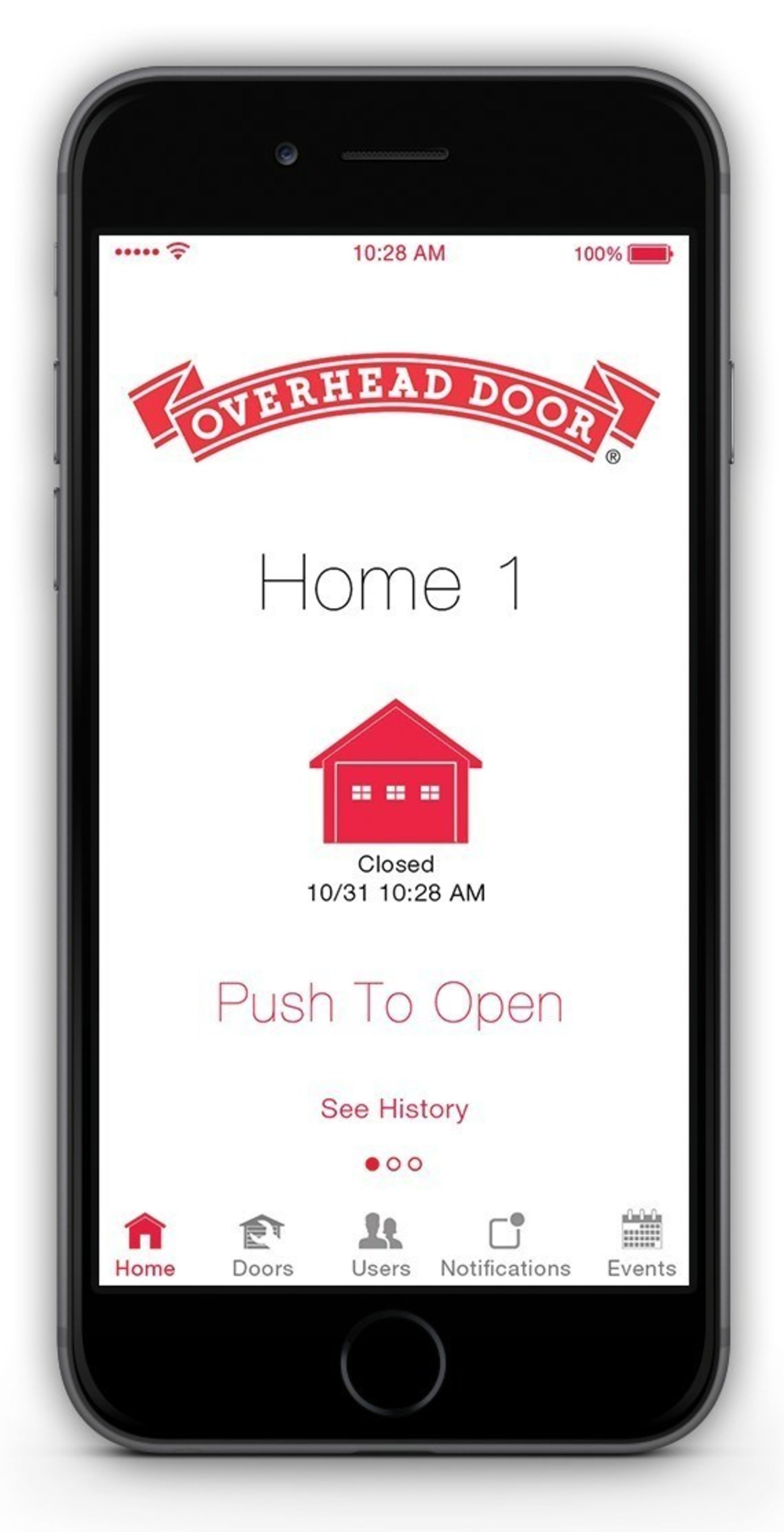 OHD Anywhere (TM) lets you control your garage door right from your smart phone.
