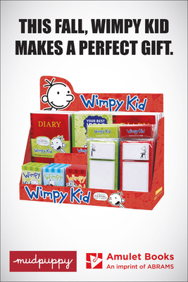 Official Wimpy Kid Gift and Stationary Products on Sale 10.1.13.  (PRNewsFoto/ABRAMS)