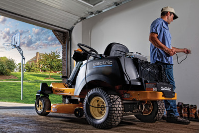 Cub Cadet, the leader in outdoor power equipment, is excited to announce extended market availability of the RZT S(TM) ZERO, the world's first fully-electric zero-turn riding mower with steering wheel control and four-wheel steering technology. (PRNewsFoto/Cub Cadet) (PRNewsFoto/CUB CADET)