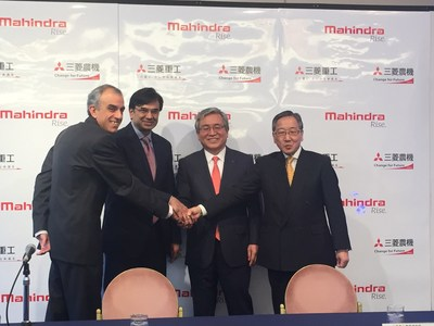 Under the definitive agreement signed today, Mahindra will acquire a 33% stake in MHI subsidiary Mitsubishi Agricultural Machinery Co., Ltd (MAM) through a third-party allocation of new shares at a cost of USD $25 million...