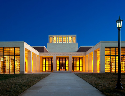 The north facade of the George W. Bush Presidential Center in Dallas, Texas. Photo: Jeff Buehner.  (PRNewsFoto/George W. Bush Presidential Center, Jeff Buehner)