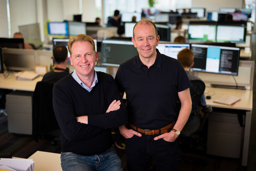 Graphcore founders Nigel Toon, CEO, on left, and Simon Knowles, CTO on right (PRNewsFoto/Graphcore)
