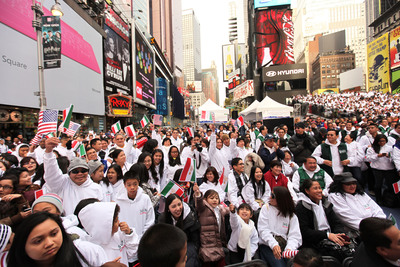 Philippines-Based Megachurch Rallies in Times Square for Superstorm Sandy Relief. Members and friends of Iglesia ni Cristo (Church of Christ) attended an International Aid for Humanity event in New York's Times Square on November 20. The Philippine-based church  conducted six different Hurricane Sandy relief missions throughout New York and New Jersey, and donated $150,000 to NYC homeless, first responders and hospitals.  (PRNewsFoto/Iglesia ni Cristo)