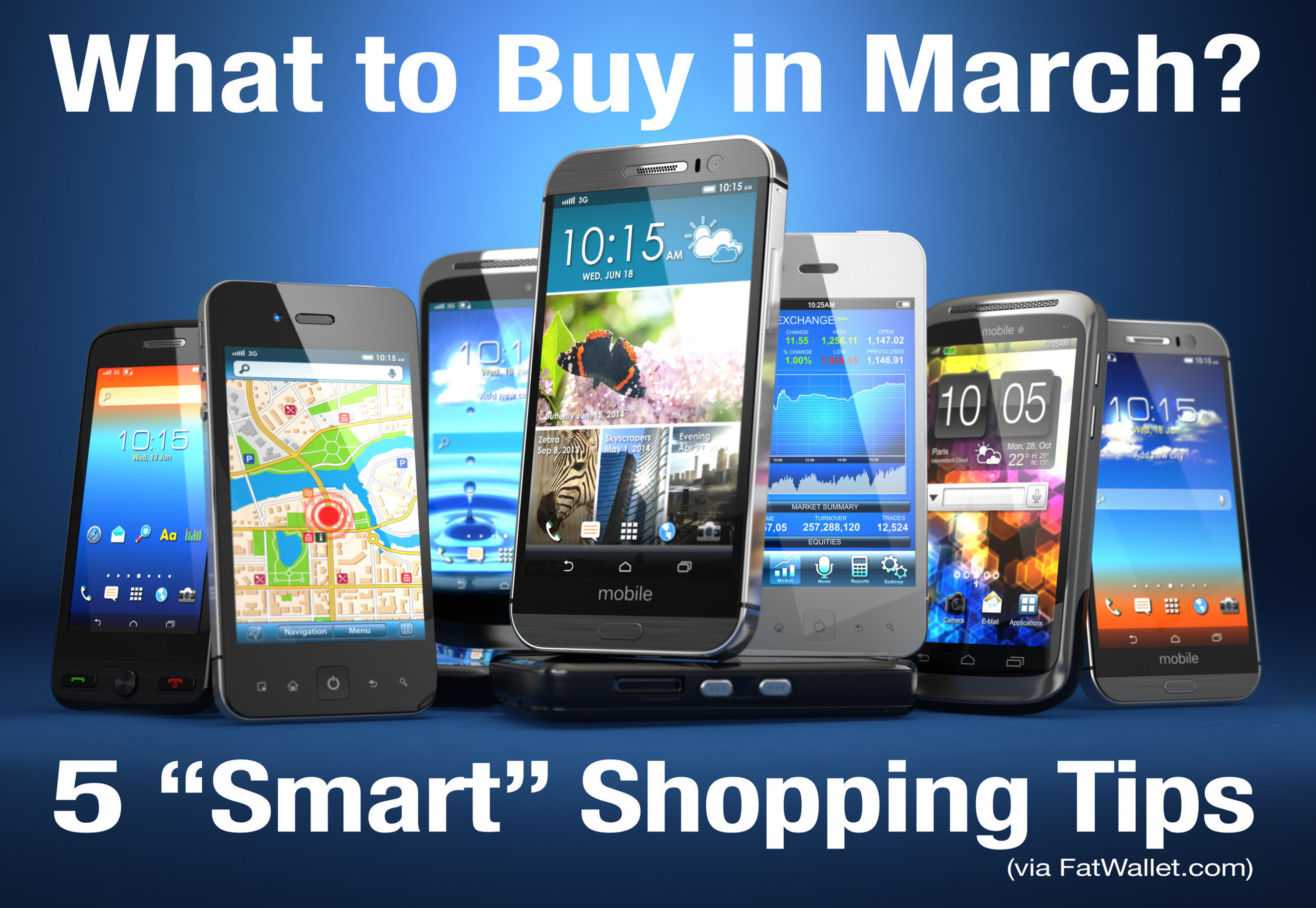 """5 """"Smart"""" Shopping Tips for What to Buy in March (Fat wallet.com)"""