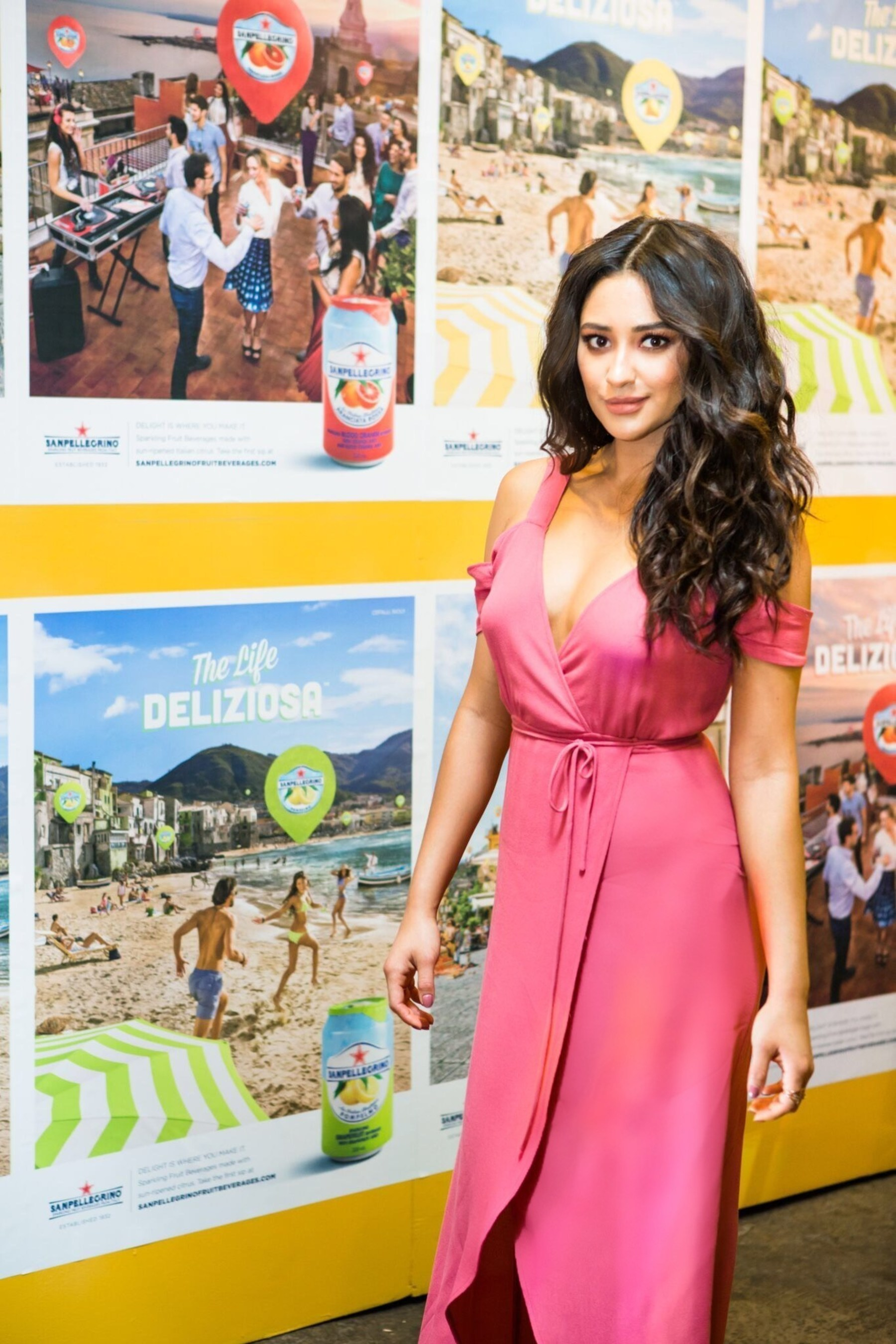 On June 14, 2016 in New York City, Shay Mitchell and Sanpellegrino Sparkling Fruit Beverages celebrated the launch of Delightways - the brand's new interactive app that helps users wander, explore and discover the Life Deliziosa.  Delightways is now available to download at www.sanpellegrinofruitbeverages.com and in the App Store and Google Play.(Photo: Patrick MacLeod)
