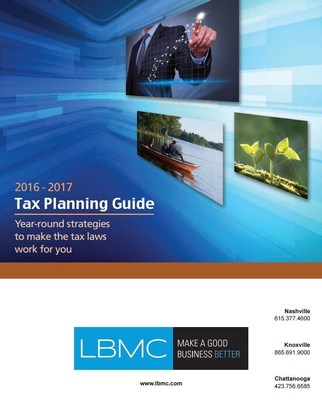 LBMC 2016-2017 Tax Planning Guide