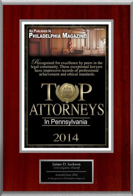Attorney Jaime D. Jackson Selected for List of Top Rated Lawyers in PA. (PRNewsFoto/American Registry)