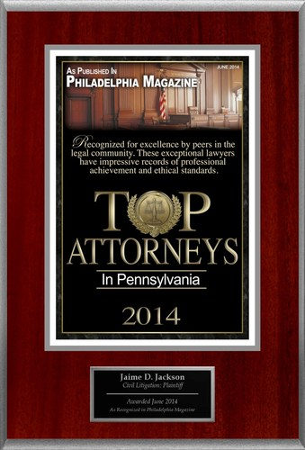Attorney Jaime D. Jackson Selected for List of Top Rated Lawyers in PA.