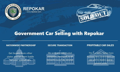 Government car selling with Repokar!