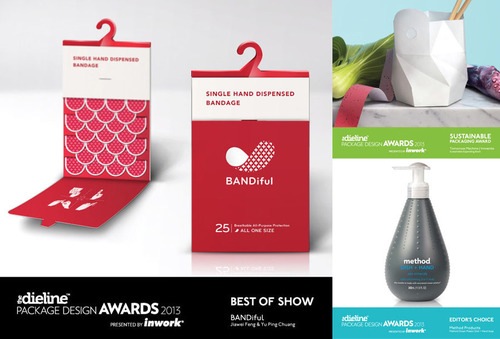 Best of Show, Sustainable Packaging Award, and Editor's Choice.  (PRNewsFoto/The Dieline)