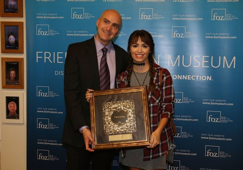 Lali Esposito receives Friendship Award from Friends of Zion Museum (PRNewsFoto/Friends of Zion)