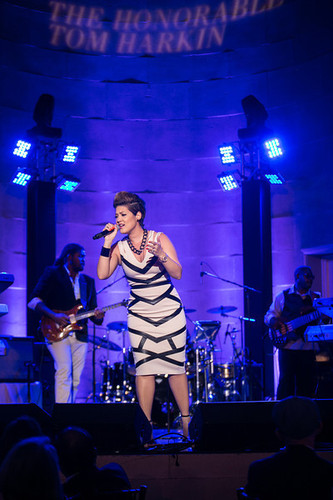 Tessanne Chin, Season 5 Winner of the NBC's The Voice performs during the Special Tribute to Senator Tom Harkin (IA) that benefitted the Lupus Foundation of America in Washington, DC on May 20th. (PRNewsFoto/Lupus Foundation of America)