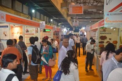 Busy show floor at Fi India (PRNewsFoto/UBM EMEA)