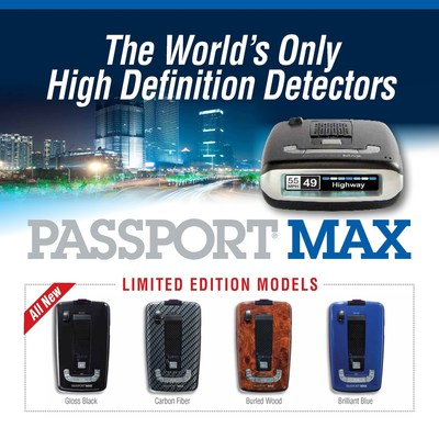 ESCORT displays Passport Max all-digital detector limited edition models (PRNewsFoto/ESCORT Inc.)