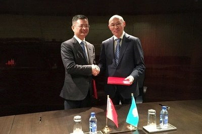 Mr. Lu Hongxiang and Mr. Kairat Kelimbetov Sign the Agreement