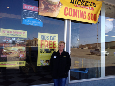 Owner/Operator Connie Strickland in front of the new Dickey's Barbecue in Big Spring, TX. (PRNewsFoto/Dickey's Barbecue Restaurants) (PRNewsFoto/DICKEY'S BARBECUE RESTAURANTS)
