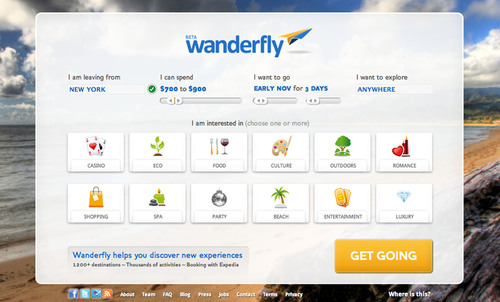 Wanderfly.com Launches as Travel Inspiration Site that Puts Simplicity, Personalization and